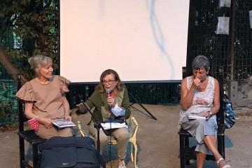 3 -  La presentazione: Pina Martelli al centro, a dx Alba Piolanti, a sx Katia Graziosi